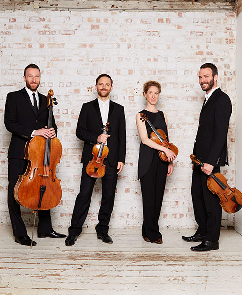 Heath Quartet portrait by Simon Way