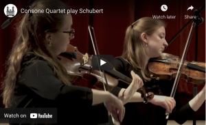 Consone Quartet play Shubert